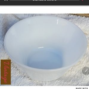 Federal vintage milk glass bowl